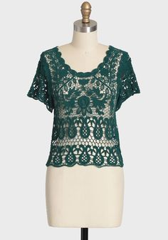 Enduring Love Lace Top In Green