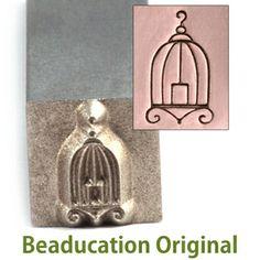 Beaducation.com - Birdcage Design Stamp - Beaducation Original #pinitbeaducation