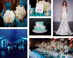 Beautiful images of Tiffany Blue inspiration for your wedding.