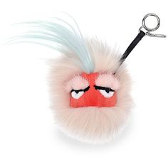 Fendi Fur Monster Charm for Handbag (8.330 ARS) ❤ liked on Polyvore featuring accessories, fendi, keychain, light pink, ring key chain, fur key chain and key chain rings