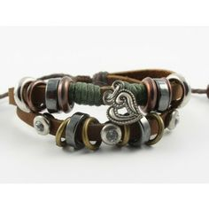 eBracelets Tough Love Leather Bracelet Noosa, Charm, Leather, Wrap Bracelets