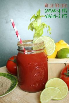 The most delicious Caesar drink recipe. Low in Weight Watchers points plus