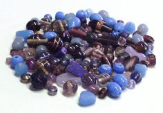Mixed Lot of Beads in Purples and Blues by BeadsFromHaven on Etsy, $3.05