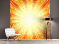 Foto #Tapete Abstrakte Retro Sonne Retro, Lighting, Home Decor, Photos, 70s Style, Self Adhesive Wallpaper, Photo Wallpaper, Wall Design, Sun