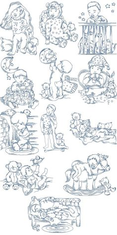 Sweet Sleeping Boys | Machine Embroidery Designs By Sew Swell