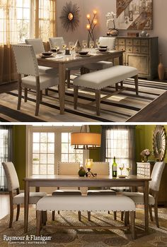Using A Bench In Place Of Chairs On One Side Your Table Eliminates The Space