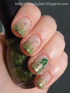 The verdict: easy and looked great. Tried 3/12/13. I put the green glitter polish over gold metallic .