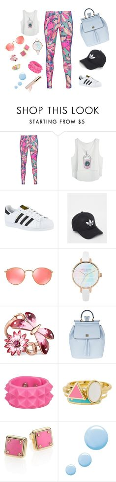 """""""Everyday... Look #58"""" by alexandriadelamode ❤ liked on Polyvore featuring adidas Originals, adidas, Ray-Ban, Gucci, Dolce&Gabbana, Ariella Collection, Marc by Marc Jacobs and Topshop"""