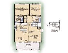 Morning Dove Home Plan - Earnhardt Collection™ Schumacher Homes. Has a full length loft under half story roof.
