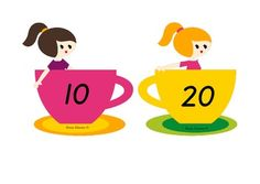 All teacup cards can be cut and laminated. These cards can be used for ordering numbers as a whole class or in maths center activities. Includes – 20 teacup cards – cards in increments of ten (up to 200).