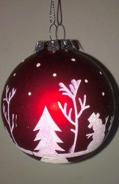Gisela Graham Red Christmas Tree Bauble Decoration | eBay