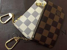 Louis Vuitton Damier Azur and Damier Ebene Cles (Key Pouch)