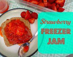 Domestic Bliss Squared: strawberry freezer jam: our secret recipe Strawberry Freezer Jam, Strawberry Butter, Strawberry Jam Recipe, Strawberry Fields, Freezer Jam Recipes, Freezer Cooking, Crockpot Recipes, Great Recipes, Favorite Recipes
