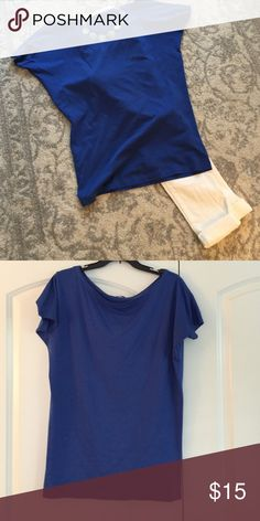 Cobalt dolman top Longer length short sleeve dolman style tee. 100% cotton only wore a couple times. Cute with white skinnies and tan strappy sandals. From VS.  Perfect condition, like new. Moda International Tops Tees - Short Sleeve