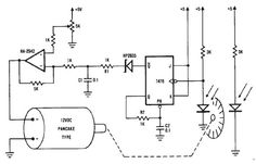 12 volts dc motor speed controller circuit diagram using encoder wheel.