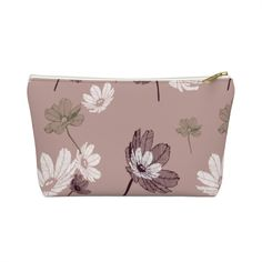 Flower Travel Nappy/Diaper Zip Pouch