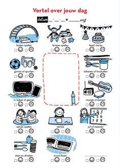 Vertel over jouw dag - uit Slaapklets! voor kleuters (verschijnt april 2015)