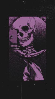 Goth Wallpaper, Dark Wallpaper Iphone, Iphone Wallpaper Tumblr Aesthetic, Aesthetic Pastel Wallpaper, Disney Wallpaper, Cartoon Wallpaper, Wallpaper Backgrounds, Purple Wallpaper, Skeleton Art
