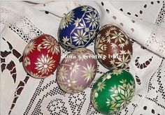 Handcraft Blog: Easter eggs with straw - Happy Easter