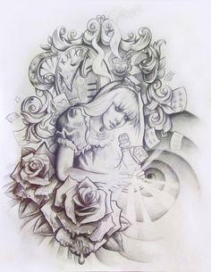 Alice In Wonderland Tattoo Designs Alice In Wonderland Tattoos Designs Ideas And Meaning Tattoos