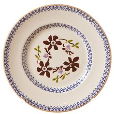 Clematis on a side plate. Nicholas Mosse Pottery.