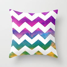 Lucky Chevron Throw Pillow by Beth - Paper Angels Photography - $20.00