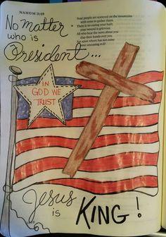 USA America American flag red white blue Scripture Art, Bible Art, Bible Prayers, Bible Scriptures, Bible Study Journal, Art Journaling, Principal Gifts, Bible Doodling, New Bible