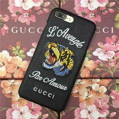 刺繍立体Gucci アイフォン8/6SPlus/7plusケースiPhone7携帯カバー