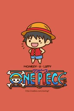 One Piece Luffy chibi Anime One Piece, One Piece Luffy, Manga Anime, Anime Chibi, Luffy X Nami, Otaku, The Pirate King, Monkey D Luffy, Kawaii