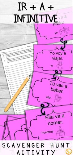 Looking for a fun game to practice near future and ir + a + infinitive structures with your Spanish classes? This activity will get your students up and moving, while providing instant feedback! It's so fun, you have to try it! Click to see how!