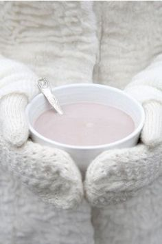 Mittens and a warm drink....