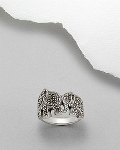 Sterling Silver Elephant ring with marcasite detail Elephant Ring, Marcasite, Silver Rings, Sterling Silver, Detail, Jewelry, Rings, Schmuck, In Love