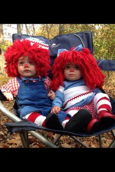 Raggedy Andy & Raggedy Ann.. Homemade costumes 2013