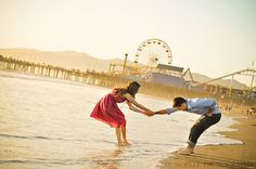 I adore engagement pictures that capture fun and life. This one does just that!