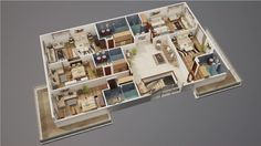 do 3D floor plan from your skectch by amirammar92