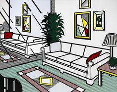 Collection Online   Roy Lichtenstein. Interior with Mirrored Wall. 1991 - Guggenheim Museum