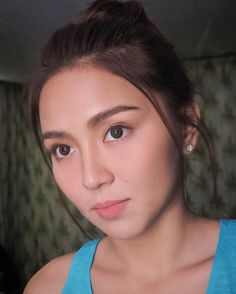 """""""Come close to me. Come closer. I promise you it will be beautiful. Queen Of Hearts, Blue Hearts, Daniel Padilla, Kathryn Bernardo, Jadine, Filipina, Asian Beauty, Close Up, Asian Girl"""