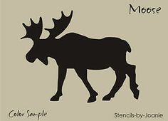 "Rustic Stencil 4 5"" Moose Mountain Canada Bull Wild Animal Lodge Cabin Art Signs 