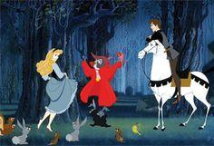 Briar Rose, Prince Philip, Samson and friends... Sleeping Beauty