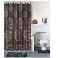 Amazon Com Blue And Brown Bathroom Set