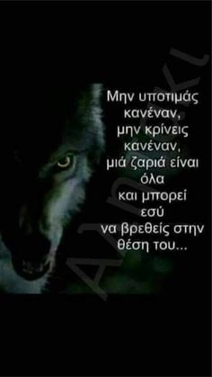 Wolf Quotes, Truth And Lies, Famous Last Words, Greek Quotes, True Words, Deep Thoughts, Picture Quotes, Life Lessons, Life Is Good