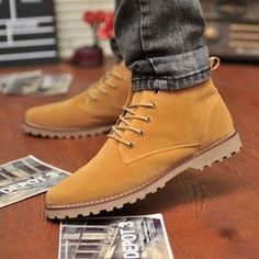 7edcd6506eb British Men s Casual Suede Lace Ankle Boots High Top Loafers Sneakers Shoes  (5)