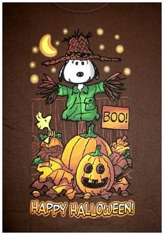 Snoopy and Happy Halloween Snoopy Halloween, Charlie Brown Halloween, Charlie Brown Et Snoopy, Fröhliches Halloween, Adornos Halloween, Halloween Quotes, Halloween Pictures, Vintage Halloween, Halloween Cartoons