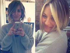 Kaley Cuoco's Versatile Layered Bob All the layers and angles in Kaley's shaggy bob makes it great for wearing super sleek and straight or roughed-up and wavy!