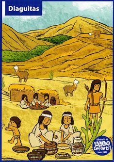 Material Didáctico: Pueblos originarios de Chile History Activities, English Activities, Painted Leaves, Social Studies, South America, Peru, Folk Art, Spanish, 1