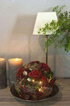 Blütenkugel, dunkelrot von flowlys auf DaWanda.com