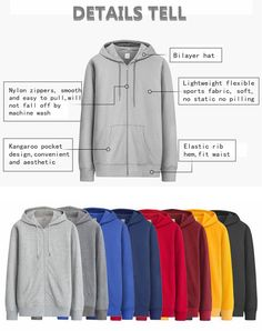 Mens Spring Autumn Zipper Hooded Cardigan Pure Color Cotton Sports Hoodies Sweatshirt 7 Colors at Banggood