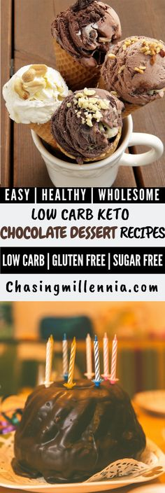 15 Best Low Carb Chocolate Desserts - KETO Chocolate Dessert Recipes Check out my list of these low calories low carb chocolate desserts that are going to take your weight loss lifestyle to another level. All these keto. Desserts Keto, Dessert Recipes, Baking Recipes, Yogurt Recipes, Diet Recipes, Diet Tips, Easy Recipes, Low Carb Chocolate, Chocolate Desserts