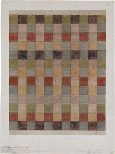 Design for a jute rug (watercolor and india ink on paper) 1927, Anni Albers