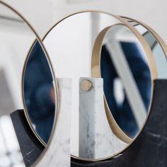 Marble Mirror details in Marble, Brass, Mirror, Detail, Menu, Inspiration, Home Decor, Furniture, Menu Board Design